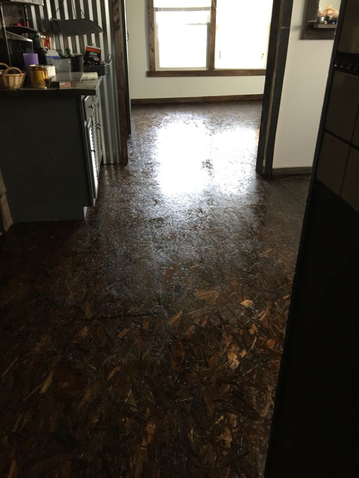 OSB Stained Floor