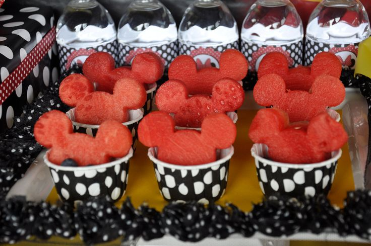 Minnie Mouse Birthday Party - Watermelon Mickey Mouse