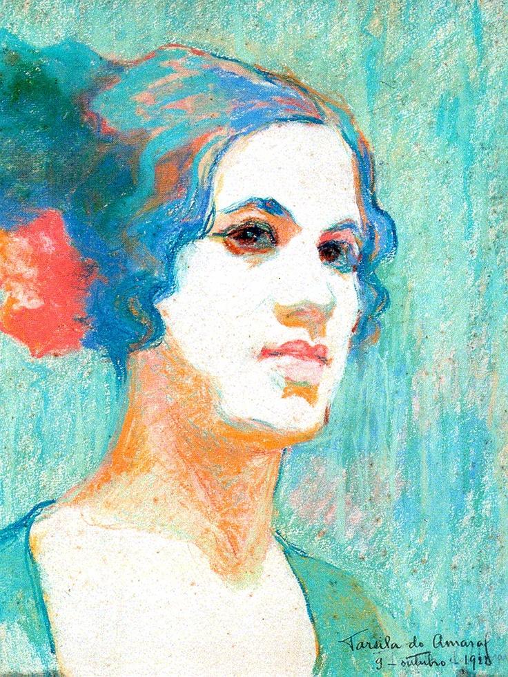 Tarsila do Amaral em autorretrato datado de outubro de 1922. Veja mais em: http://semioticas1.blogspot.com.br/2013/06/arte-entre-guerras.html
