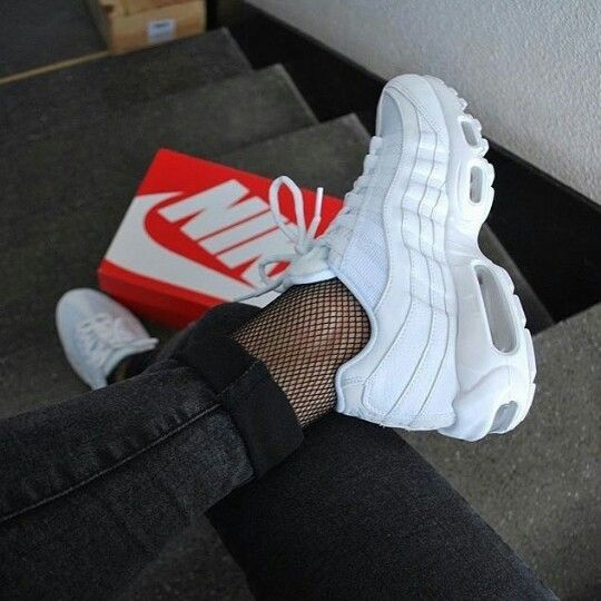 Adidas Women Shoes - Sneakers women - Nike Air Max 95 triple white  (©katiamyrs) - We reveal the news in sneakers for spring summer 2017 4c65dfae9999