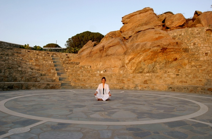 Yoga and pilates sessions are organised at the inspiring stone-built amphitheater - Mykonos Grand Hotel & Resort