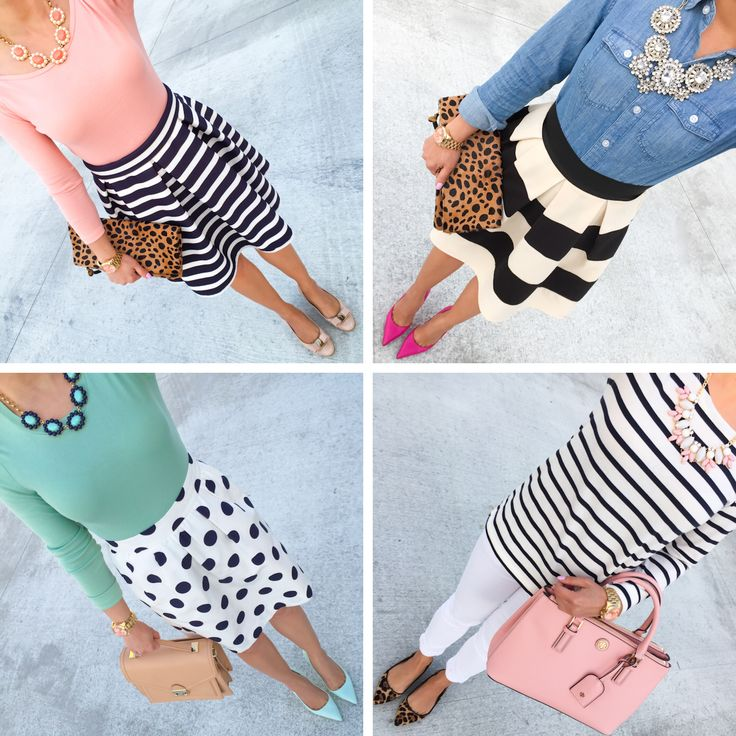 Four super easy and cute outfits to wear!  See more here: http://www.stylishpetite.com/2015/04/instagram-lately-and-weekend-sales.html