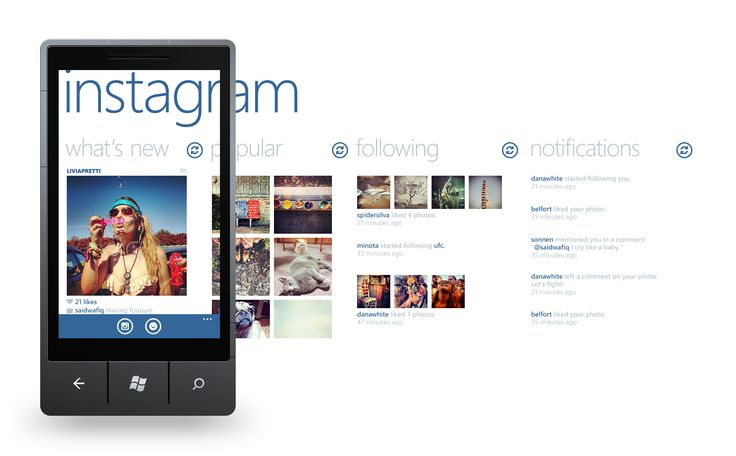 Instagram for Windows Phone #wp7