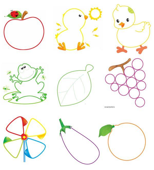 Картинки рисованные с детьми контуры цветные, картинку
