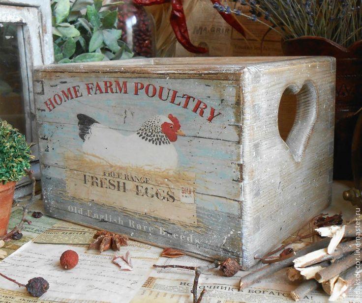 """Купить Короб для кухни """"В гостях у фермера"""" - короб для хранения, короб для кухни, короб для специй"""