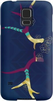 """Fancy Flowery Antlers"" Galaxy S5 case - by herker $31.50"