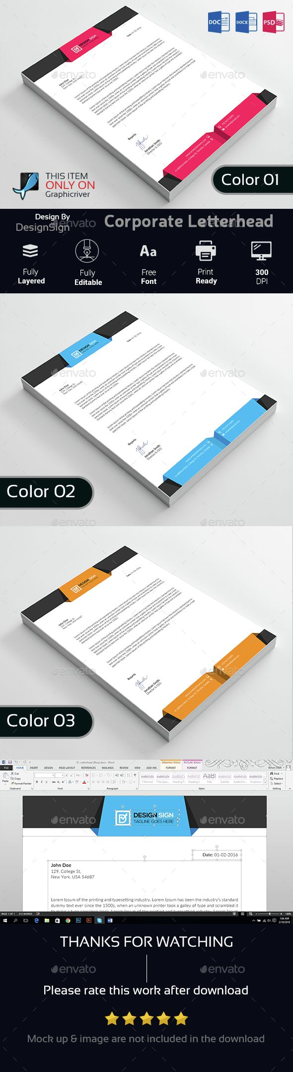 54 best letterheads images on pinterest letterhead stationery corporate letterhead stationery print templates download here https graphicriver spiritdancerdesigns Choice Image