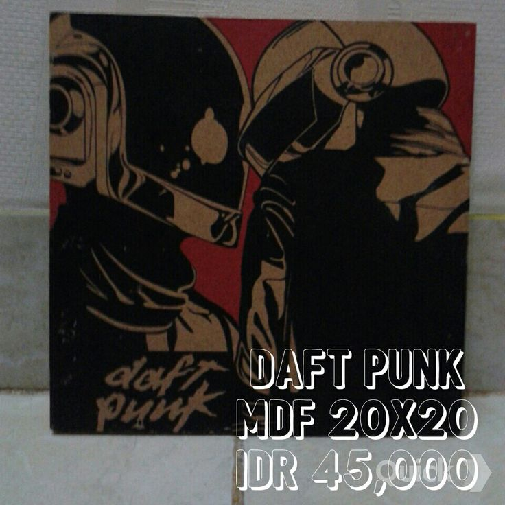 Poster on MDF Daft Punk Material MDF 9mm