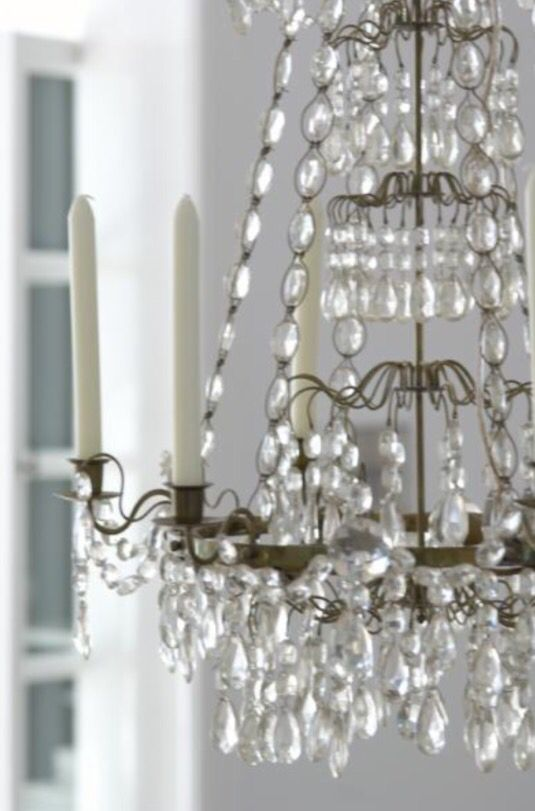 "This sparkling chandelier is from our feature ""Suite Surrender"""