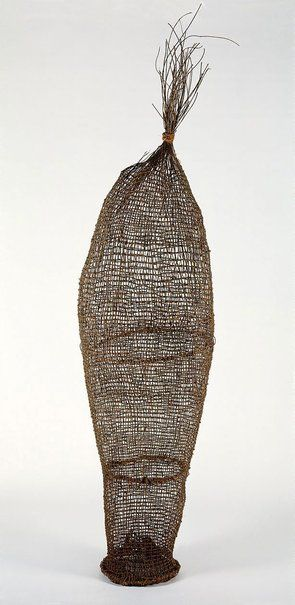 Mandjabu (conical fish trap), Western Arnhem Land 1985 by Anchor Kulunba (c 1917 - 1996), Kuninjku language group. NSW Art Gallery