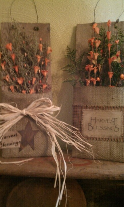 An old board, some burlap, and some prim touches of your choice ;).... and voila!!....you're 'creative'!