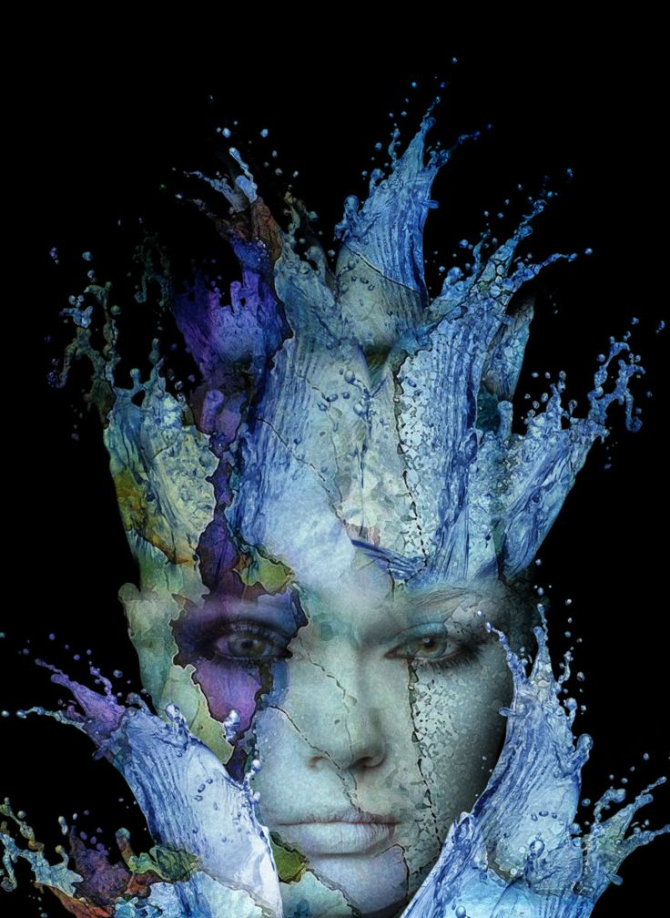 Splash (Digital Arts) by Dodi Ballada Splash, abstract digital painting by Dodi Ballada