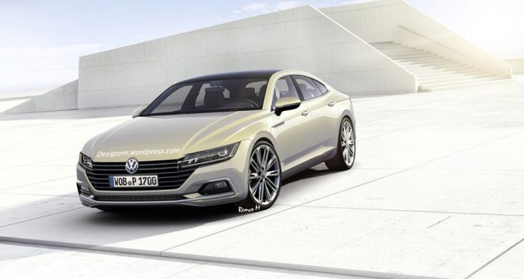 Second generation VW CC rendered realistically