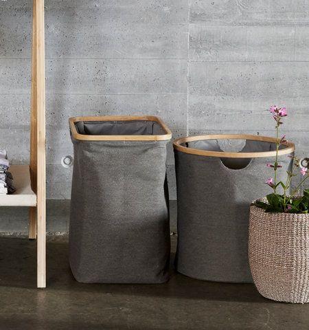 Förvaringskorg / Tvättkorg BAMBOO LARGE, Hübsch, Grå