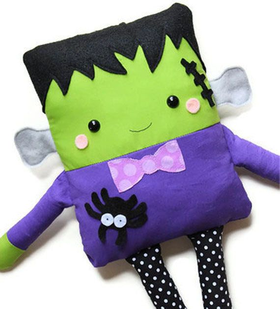 Halloween Sewing Pattern Toy Frankenstein Doll PDF Sewing Pattern Softie