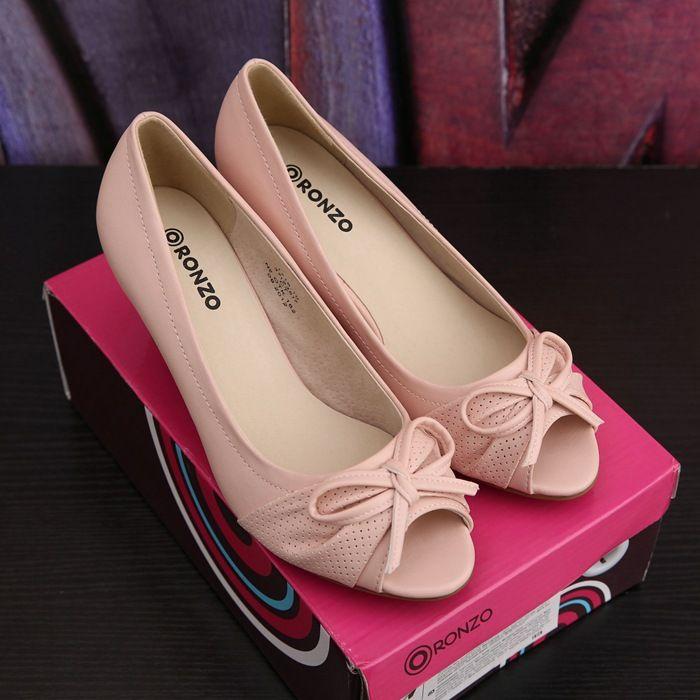 50 юаней две пары Российской внешней торговли оригинальный одного сладкий лук голову рыбы грубых высоких каблуках сандалии, большой размер обуви - Taobao