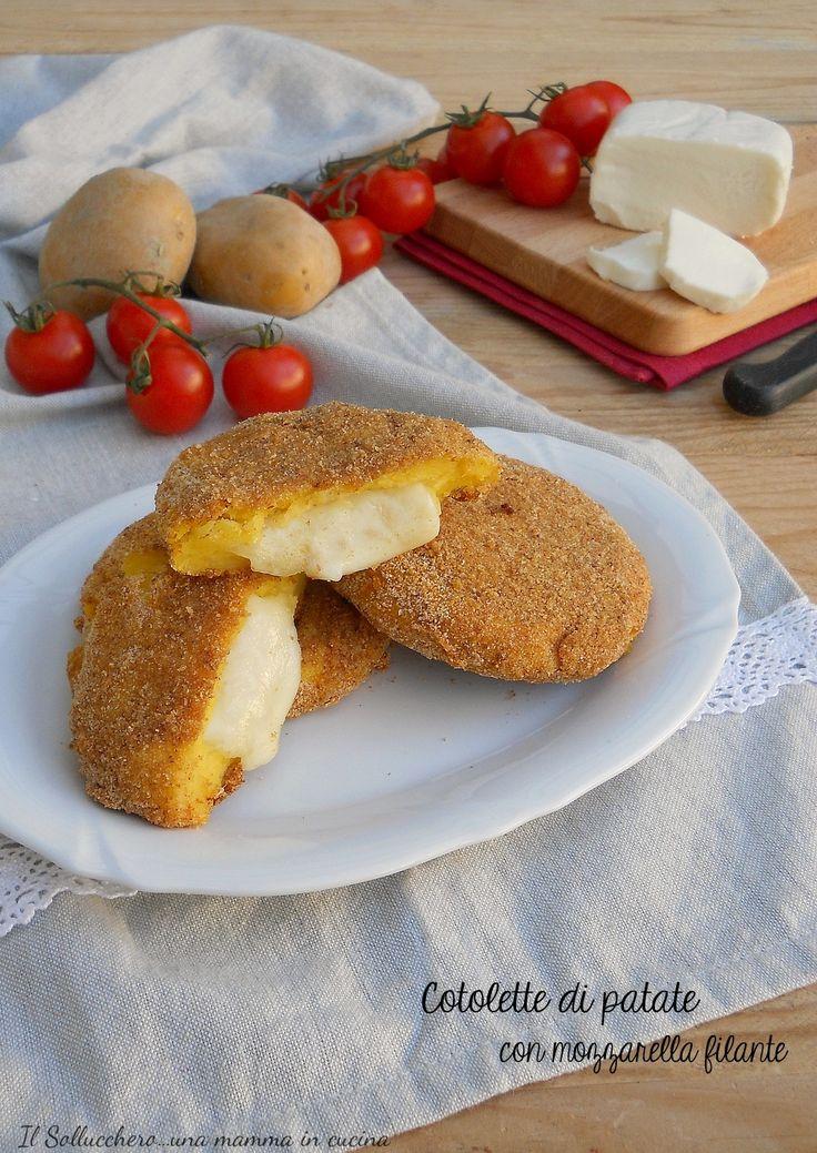 #COTOLETTE DI #PATATE CON #MOZZARELLA FILANTE, un secondo golosissimo e sfizioso, preparatene tante perchè andranno a ruba! #gialloblog #pranzo #lunch #easy #recipe #foodie #homemade