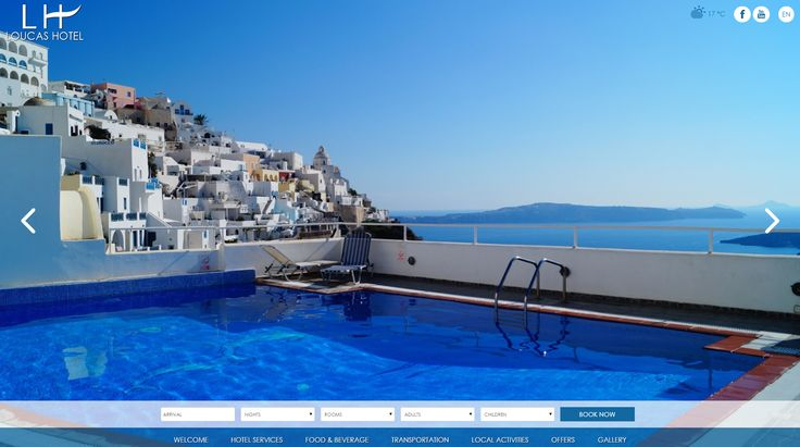 Loucas Hotel is one of the first hotels built in Santorini. Located right in the center of Fira, the capital of Santorini. http://www.eyewide.gr/en/portfolio/tourism/loucas-hotel #hotel #marketing #Santorini #eyewide #web #design