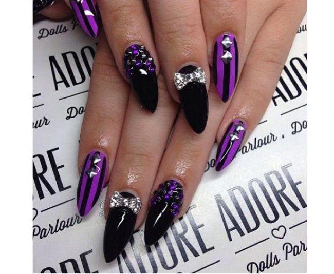 Gotycki manicure - super pomysły na czarne paznokcie - Strona 11