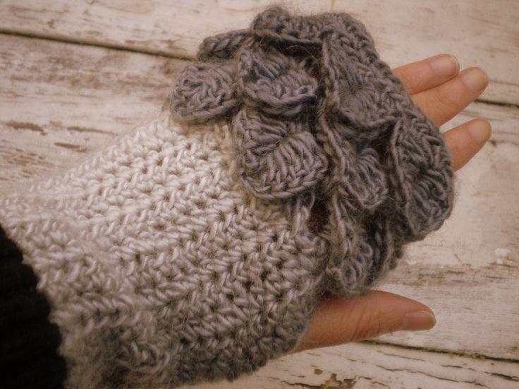 Miteńki rękawiczki bez palców - Edyta-86 - Mitenki