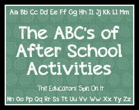 The Educators' Spin On It: After School Weekly Planner
