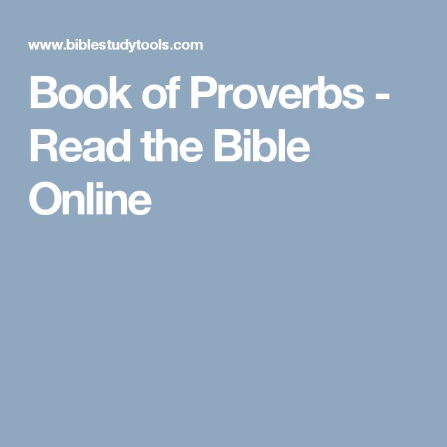 Book of Proverbs - Read the Bible Online