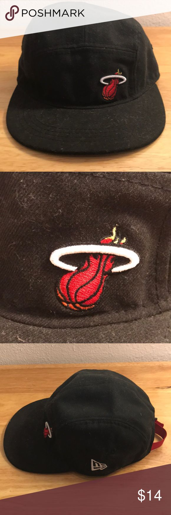 New Era Miami Heat 5 Panel Hat New Era Miami Heat 5 Panel Hat, Used, 🎄WILL SHIP IN ONE DAY🎄All bundles of 2 or more receive 20% off. Closet full of new, used and vintage Vans, Skate and surf companies, jewelry, phone cases, shoes and more. New Era Accessories Hats