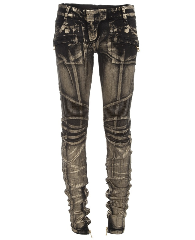 motorbike inspired jeans. Love the seams details