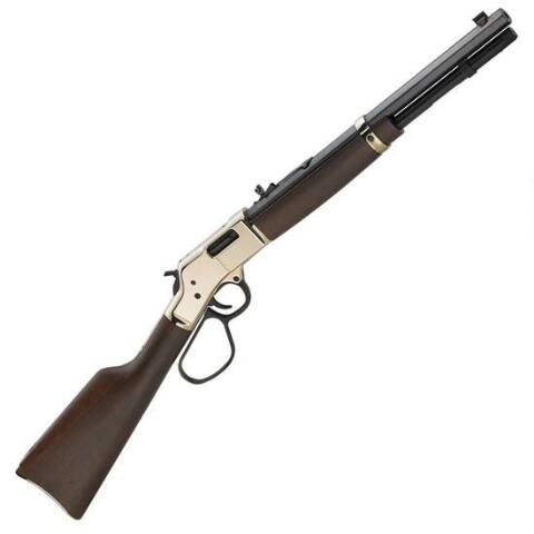 "Henry Big Boy Carbine Lever Action Rifle .357 Mag 16.5"" Octagon Barrel 7 Rounds Brass Receiver Walnut Stock Blued H006MR - 619835060303"