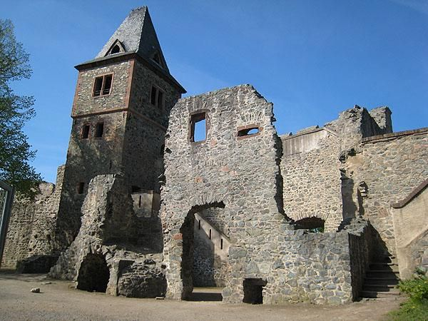 Burg Frankenstein near Darmstadt, Germany. They have a restaurant and plays on Frankenstein, Dracula, etc