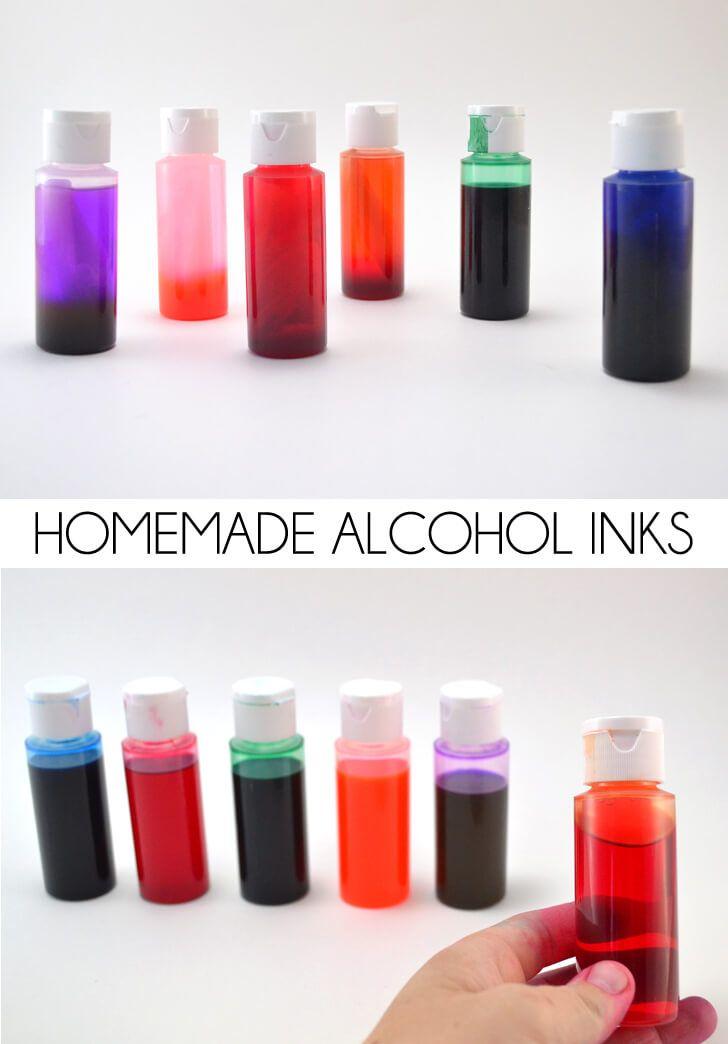 ¿Usted sabía que usted puede ahorrar grandes cantidades de dinero súper con tintas hechas en casa con el alcohol?  ¡Genio!