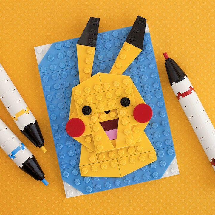 10 LEGO People: Creative And Colorful Pop Culture LEGO Mini Portraits Pikachu
