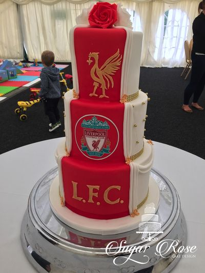 Half and half wedding cake, Liverpool fc