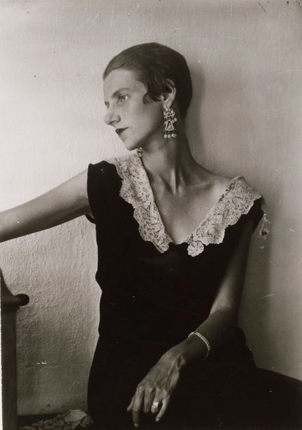 Peggy Guggenheim - by Berenice Abbott (Cool house/museum in Venice, Italy)