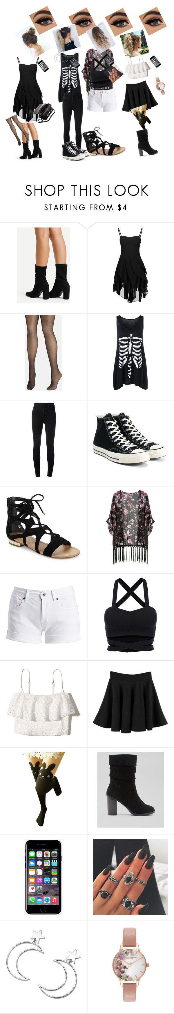 """outfits id love"" by samrichards-i ❤ liked on Polyvore featuring Proenza Schouler, Avenue, J Brand, Converse, Capelli New York, Saks Fifth Avenue, Barbour International, Hollister Co., New Look and Off-White"