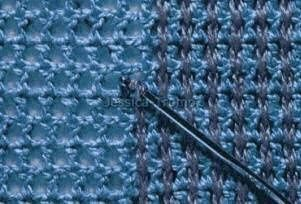 I've actually done this before :).............crochet stitches- very interesting!