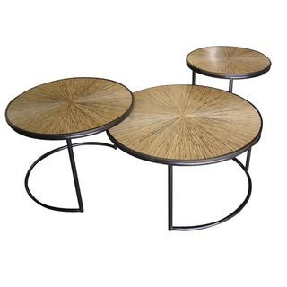 Shop for Decorative Granite Modern Brown Round Nesting Cocktail Table. Get free shipping at Overstock.com - Your Online Furniture Outlet Store! Get 5% in rewards with Club O!