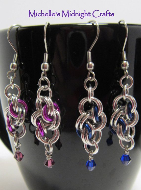 Double Cloud Cover Chainmaille Earrings