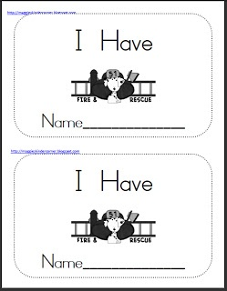"""Fire Prevention Theme Mini-Book (using sight word, """"have"""")"""
