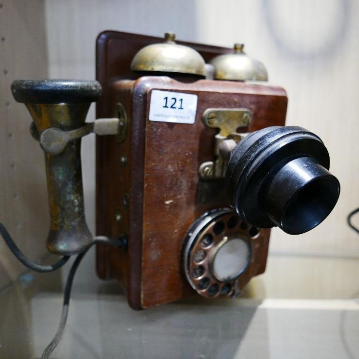 Vintage walnut cased dial wall telephone, circa 1930's