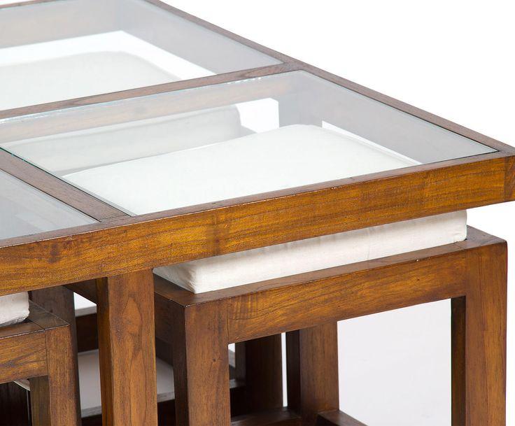 Набор из стола и 4 табуретов - акация | Westwing Интерьер & Дизайн