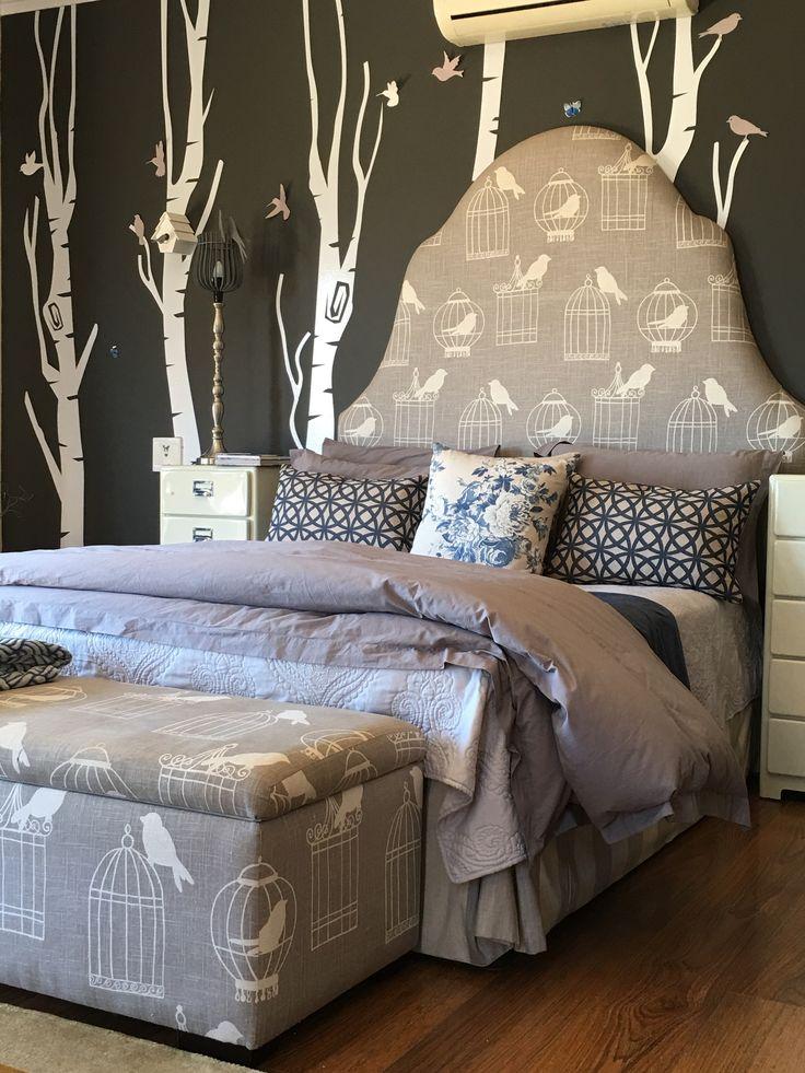 Tree vinyls for a forrest bird little girl bedroom