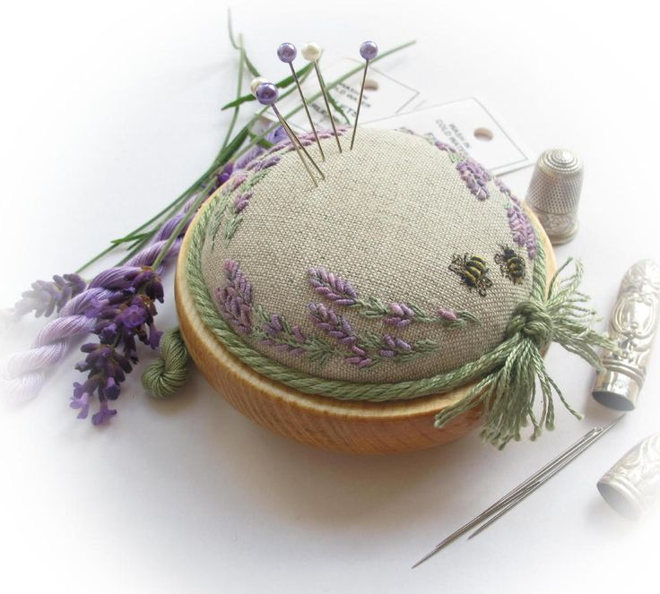 PP4 Lavender & Bees on Linen - Full Kit - Lorna Bateman Embroidery