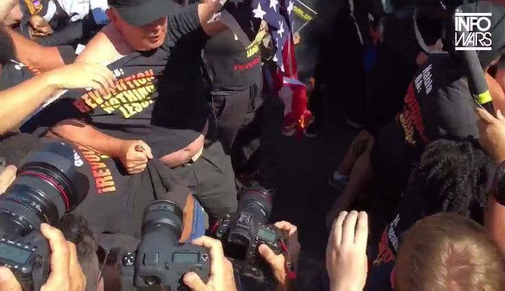 Commie Flag Burning Fail - Infowars @RNC 2016