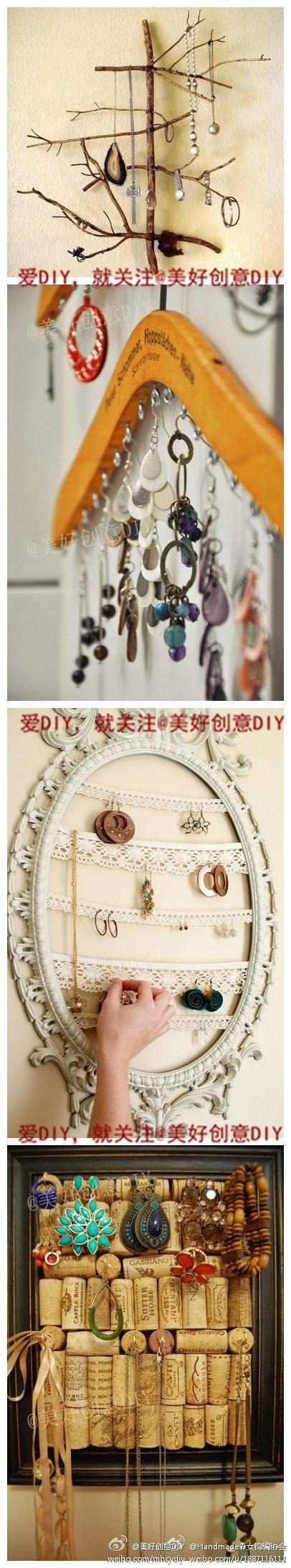 Jewelry Organizing Ideas
