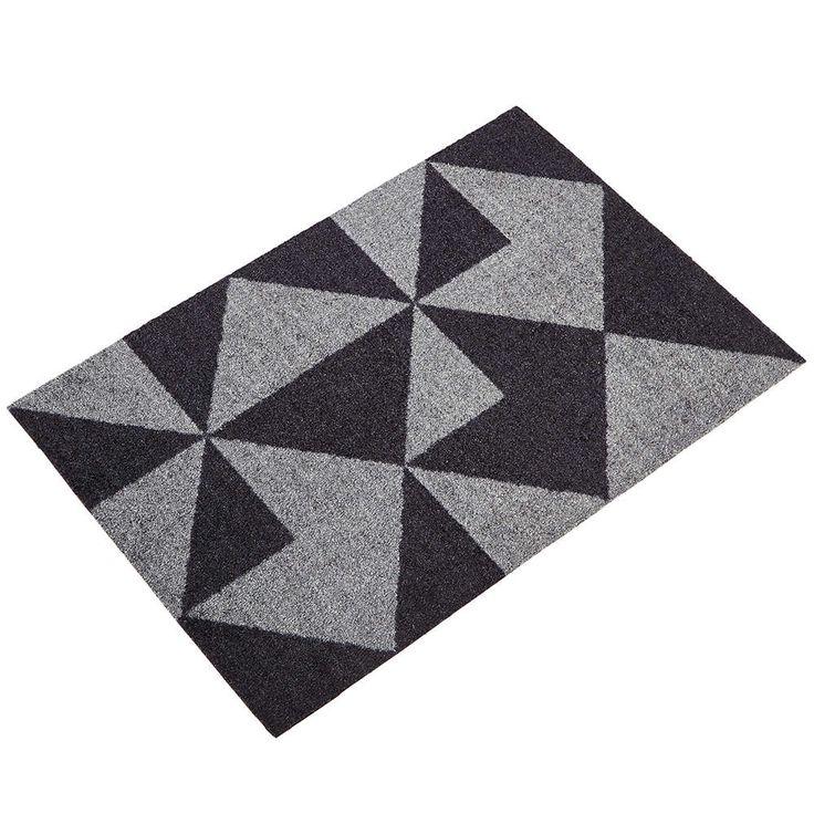 Mette Ditmer dørmatte Graphic grå 55x80