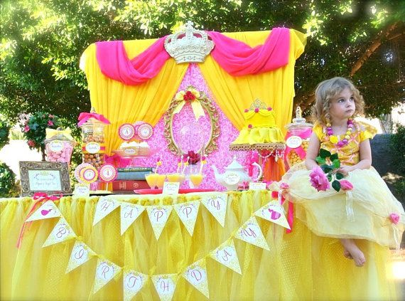 Princess Belle Birthday Party Decorations 25 Best Belle Party Images On Pinterest  Birthday Party Ideas
