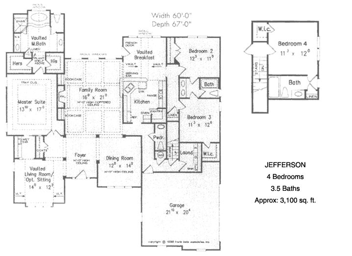 Unique ranch house plans the ranch style jefferson Custom home plans