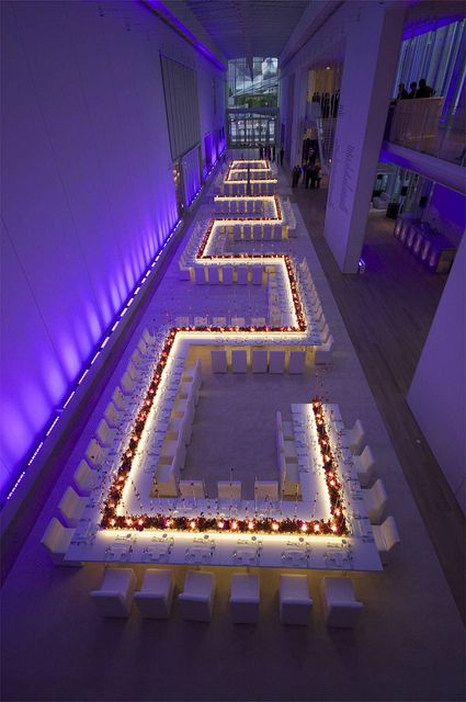 Art Institute Wedding  Cool table set up