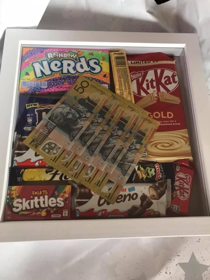 Pin By Kate Gamble On Kmart Ideas Hacks Shadow Box Gifts Shadow Box Xmas Gifts